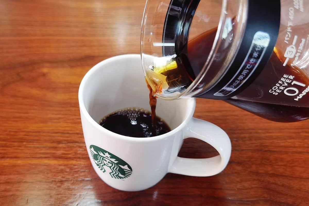 serve the coffee