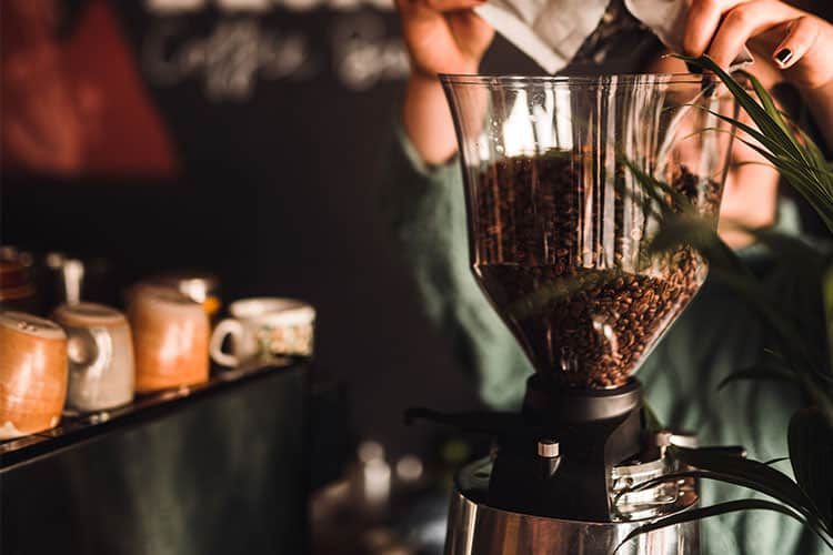 coffee grinder in coffee shop