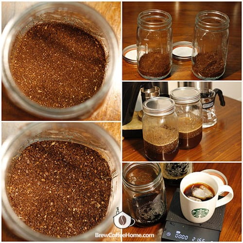 cold brewing with medium and coarse grind comparison