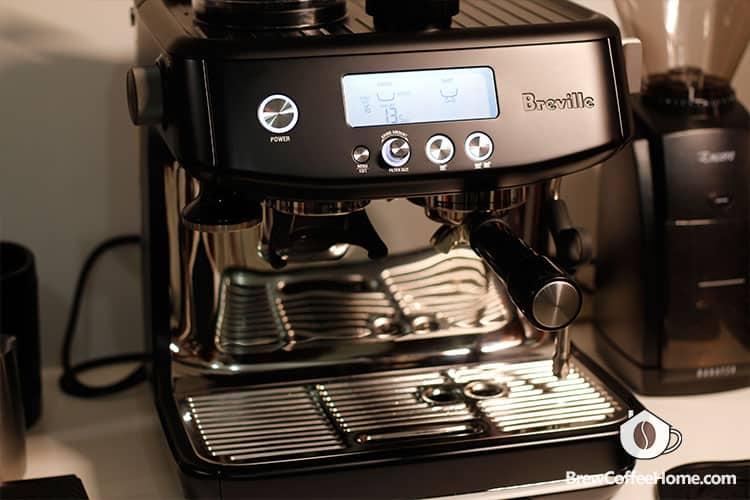 preheating the espresso machine