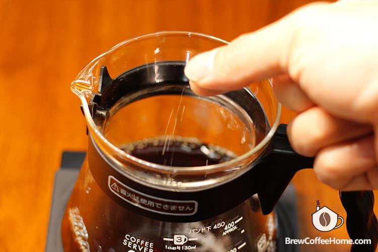 add salt to brewed coffee
