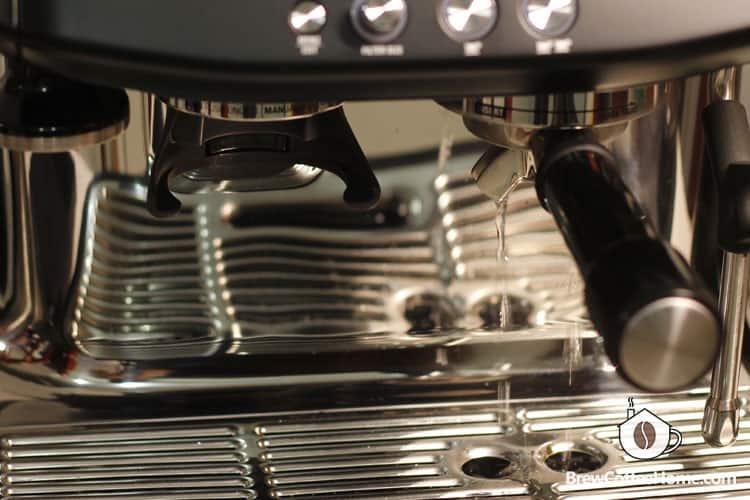 preheat-the machine and portafilter