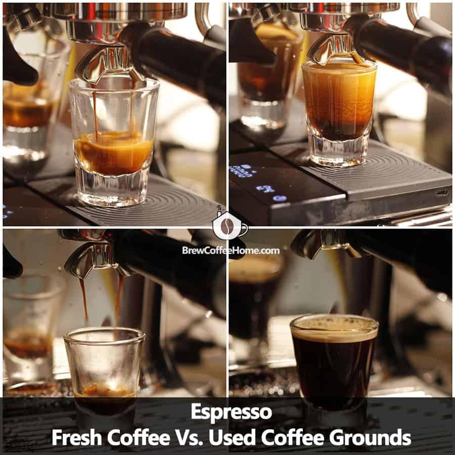 reuse coffee grounds for espresso