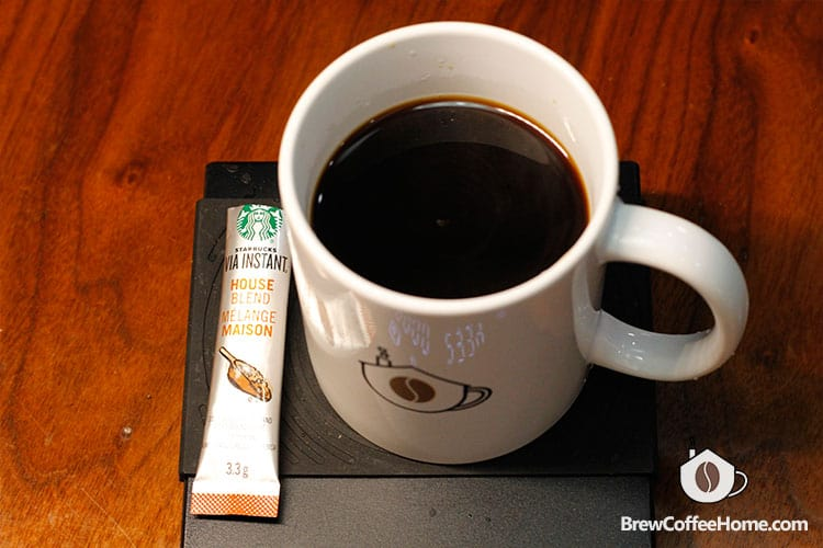 a cup of instant coffee