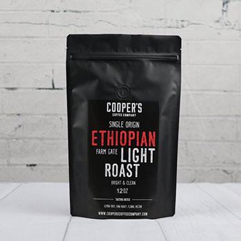 cooper's cask coffee light roast ethiopian coffee