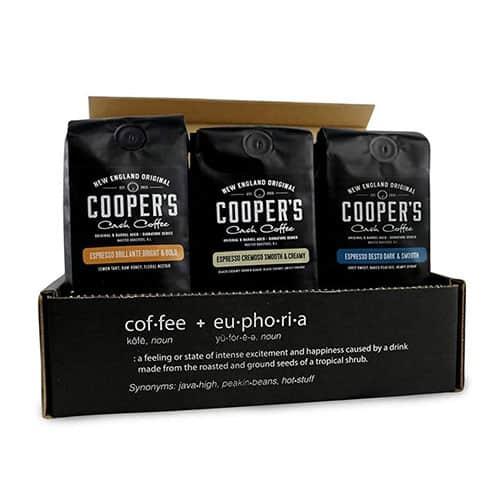 coopers espresso coffee