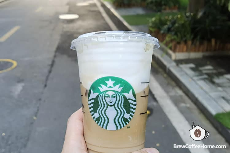 Starbucks cold brew coffee topped with cold foam