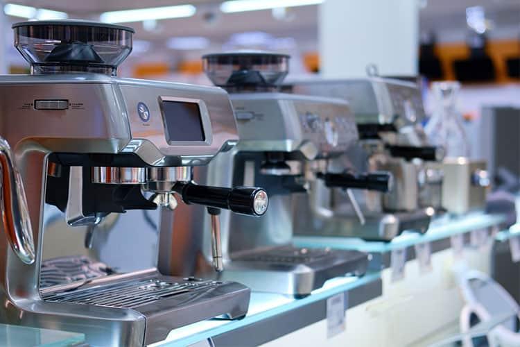 Breville espresso machines in store